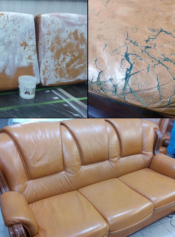 Реставрация кожаной мебели своими руками от когтей 64
