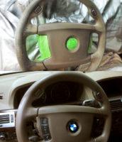 Чистка, реставрация кожаного руля автомобиля
